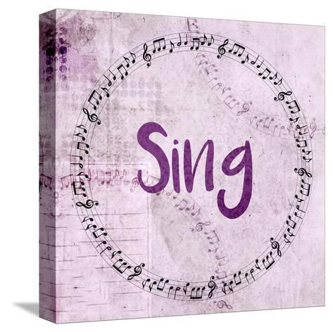 Music Sing-Kimberly Allen-Stretched Canvas Print