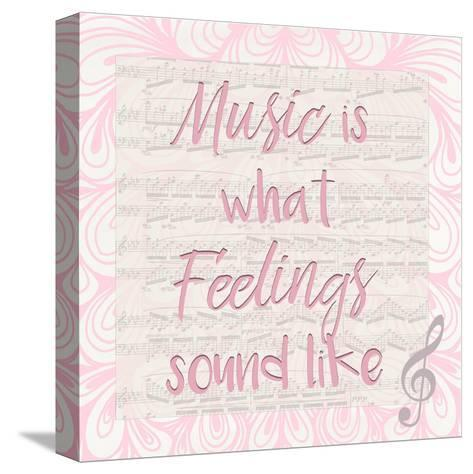 Music Is A-Kimberly Allen-Stretched Canvas Print