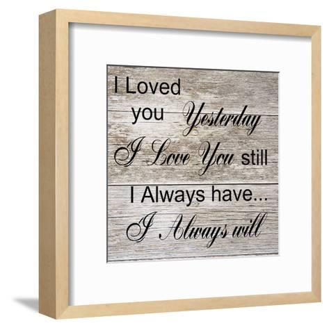 I Always Will-Sheldon Lewis-Framed Art Print