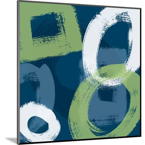 Grunge Circles 1-Carole Stevens-Mounted Art Print
