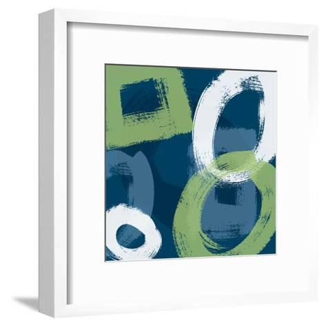 Grunge Circles 1-Carole Stevens-Framed Art Print