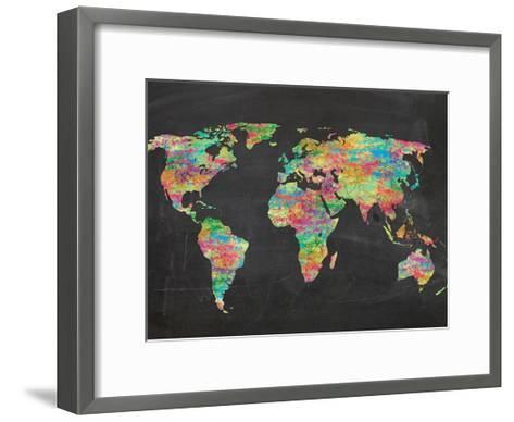 World Chalk Kids-Lauren Gibbons-Framed Art Print