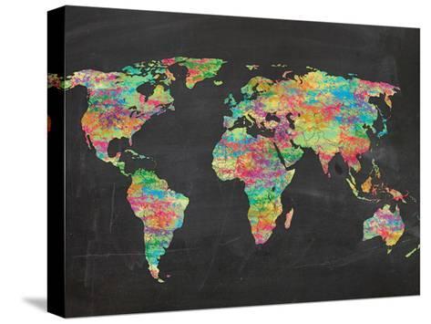 World Chalk Kids-Lauren Gibbons-Stretched Canvas Print