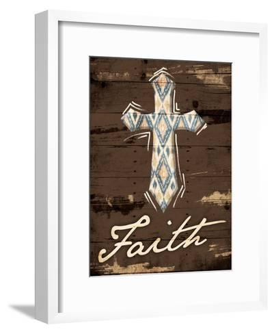 Faith Cross-Jace Grey-Framed Art Print