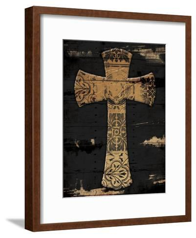Gold Cross 1-Jace Grey-Framed Art Print
