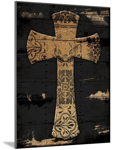 Gold Cross 1-Jace Grey-Mounted Art Print