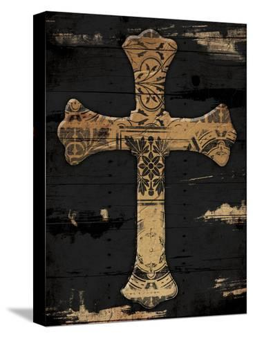 Gold Cross 2-Jace Grey-Stretched Canvas Print