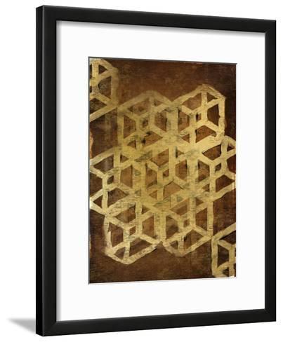 Geo Gold 1-Kimberly Allen-Framed Art Print
