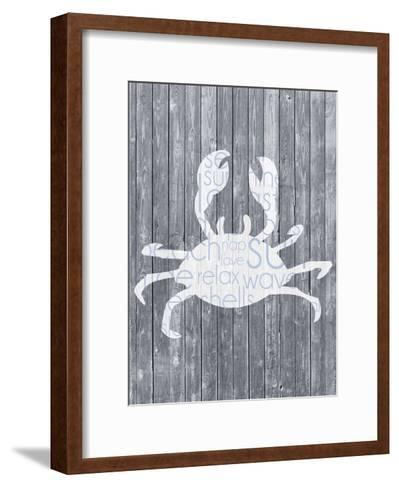 Crab Wood Panel-Lauren Gibbons-Framed Art Print