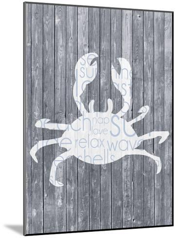 Crab Wood Panel-Lauren Gibbons-Mounted Art Print