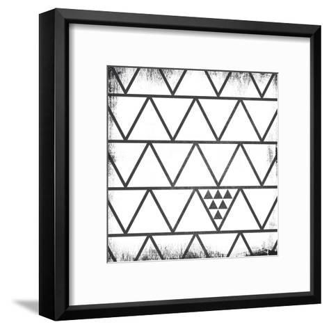 White Pattern-Gigi Louise-Framed Art Print