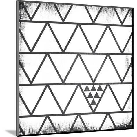 White Pattern-Gigi Louise-Mounted Art Print