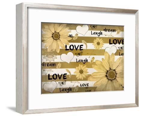 Love Dream Laugh-Kimberly Allen-Framed Art Print