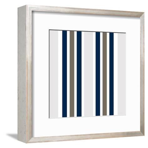 Indigo Coral Pattern-Kimberly Allen-Framed Art Print