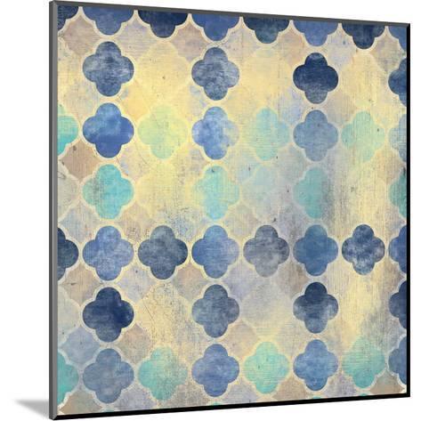 Indigo Marble Pattern-Kimberly Allen-Mounted Art Print