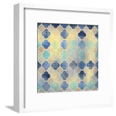 Indigo Marble Pattern-Kimberly Allen-Framed Art Print