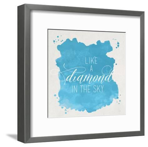 Diamond Sky Blue-Gigi Louise-Framed Art Print