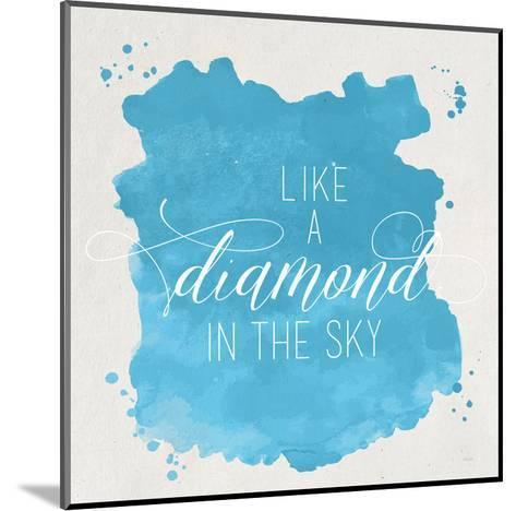 Diamond Sky Blue-Gigi Louise-Mounted Art Print