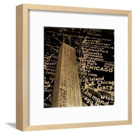 Chi Map-Jace Grey-Framed Art Print