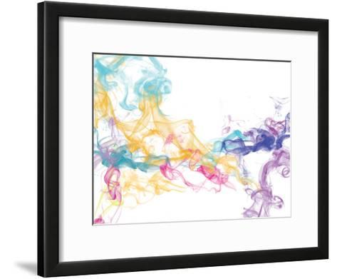 Abstract Smoke 2-Victoria Brown-Framed Art Print