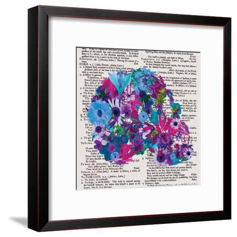 Skull 1.2-Victoria Brown-Framed Art Print
