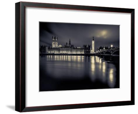 London Duotone Parliament-Vladimir Kostka-Framed Art Print
