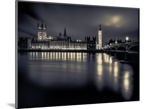 London Duotone Parliament-Vladimir Kostka-Mounted Art Print