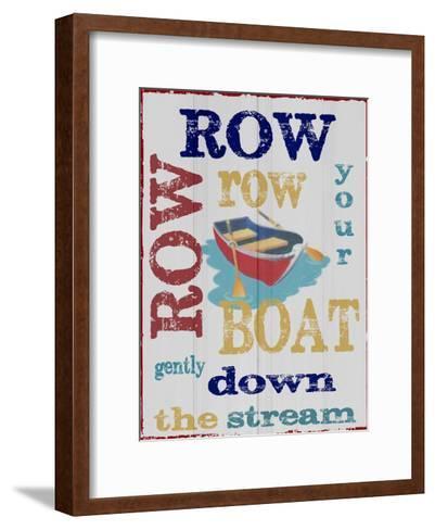 Row Row-Taylor Greene-Framed Art Print