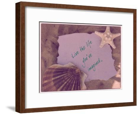 Live The Life-Taylor Greene-Framed Art Print