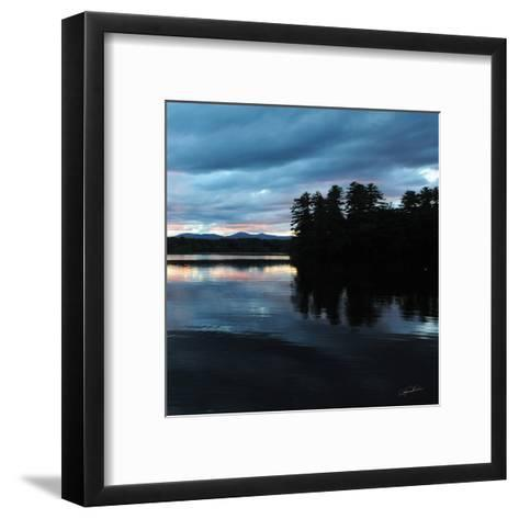 Sunset Lake Pink 2-Suzanne Foschino-Framed Art Print