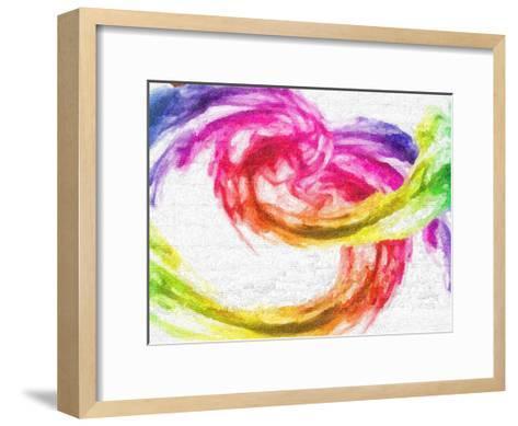 Rainbow Swirl-Taylor Greene-Framed Art Print