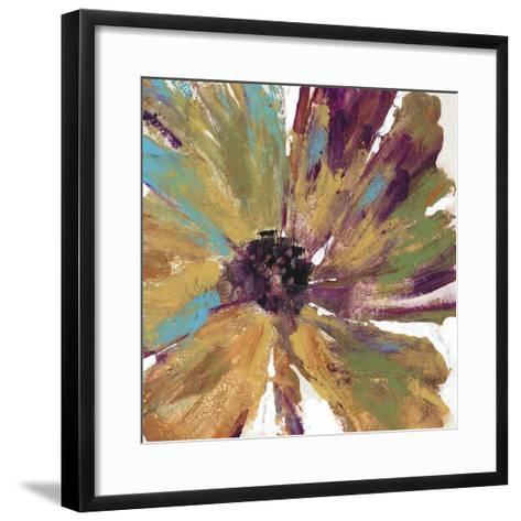 Green Splash II-Julie Silver-Framed Art Print