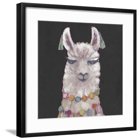 Noble Llama II-Julie Silver-Framed Art Print