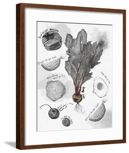 Food Sketches in Black and White II-Julie Silver-Framed Art Print