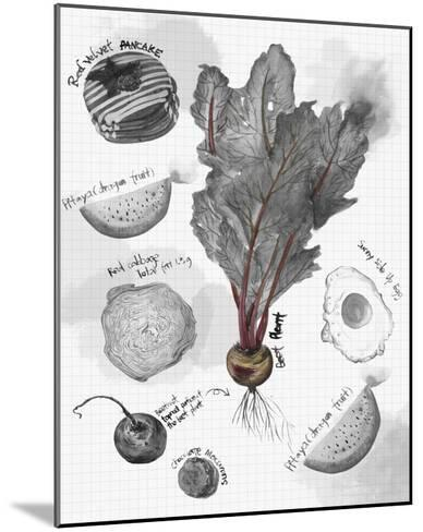 Food Sketches in Black and White II-Julie Silver-Mounted Giclee Print