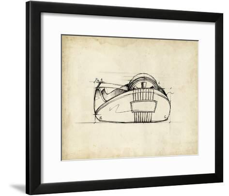 Office Supply Sketch III-Julie Silver-Framed Art Print