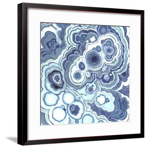 Blue Malachite I-Julie Silver-Framed Art Print