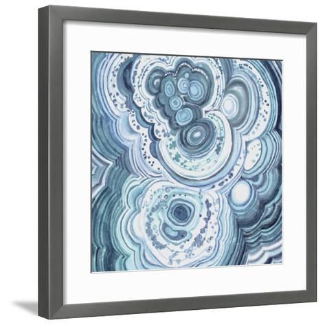 Blue Malachite II-Julie Silver-Framed Art Print