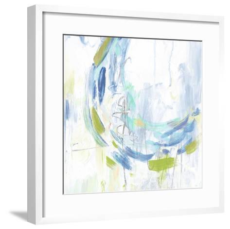 Blue Movement I-Julie Silver-Framed Art Print