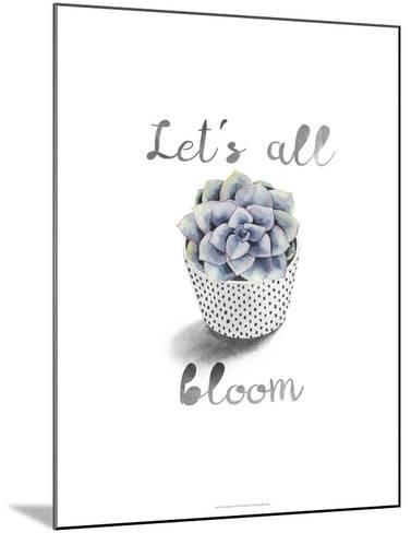 Succulent Life I-Julie Silver-Mounted Giclee Print
