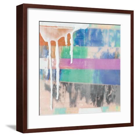 Vibrant Paint Drip I-Julie Silver-Framed Art Print