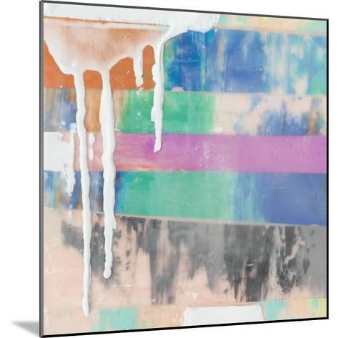 Vibrant Paint Drip I-Julie Silver-Mounted Giclee Print