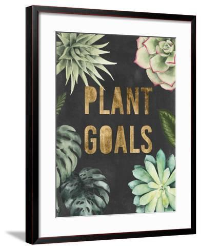 Plant Gold II-Julie Silver-Framed Art Print