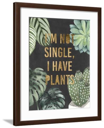 Plant Gold V-Julie Silver-Framed Art Print