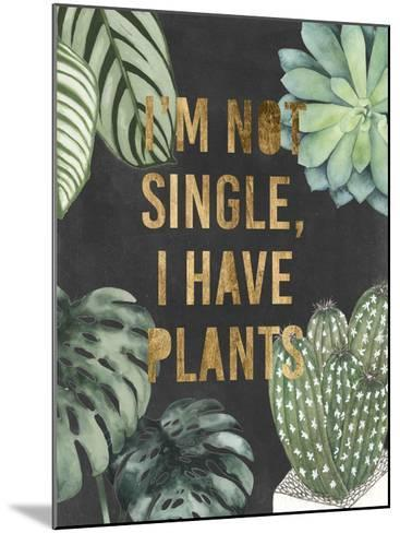 Plant Gold V-Julie Silver-Mounted Giclee Print