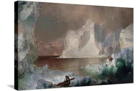 The Icebergs-Frederic Edwin Church-Stretched Canvas Print