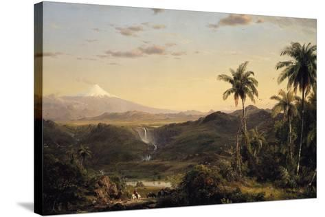 Cotopaxi-Frederic Edwin Church-Stretched Canvas Print