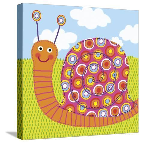 Sita The Snail-Jessie Eckel-Stretched Canvas Print