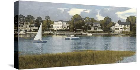 Waterside Reflection-Alan Lambert-Stretched Canvas Print
