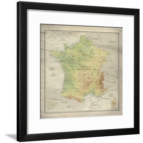 Carte de France-The Vintage Collection-Framed Art Print
